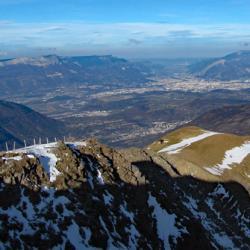 Grenoble vu du sommet.