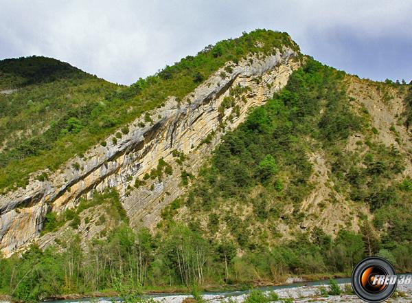 La falaise ou se trouve le site.