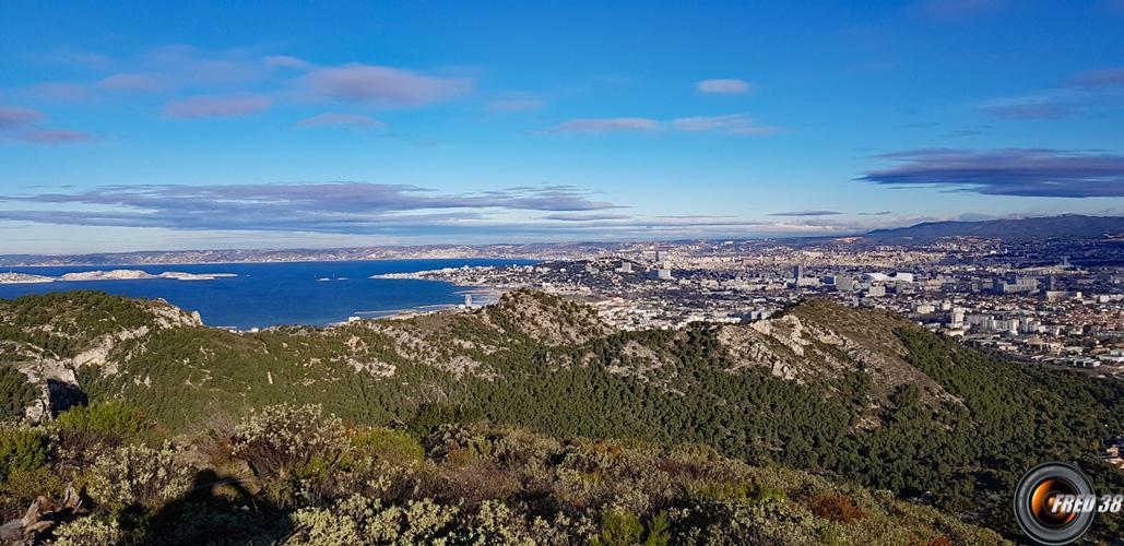 Vue sur Marseille.
