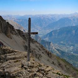 Vue sur la vallée de la Durance.