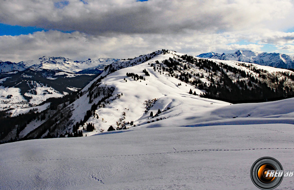 Le sommet vu des chalets des Stellets.
