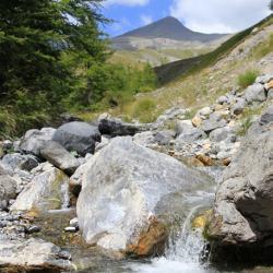 en fond le mont Mounier.